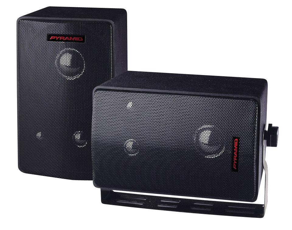 Pyramid 3808 400 Watts 3 Way Mini Box Speaker System