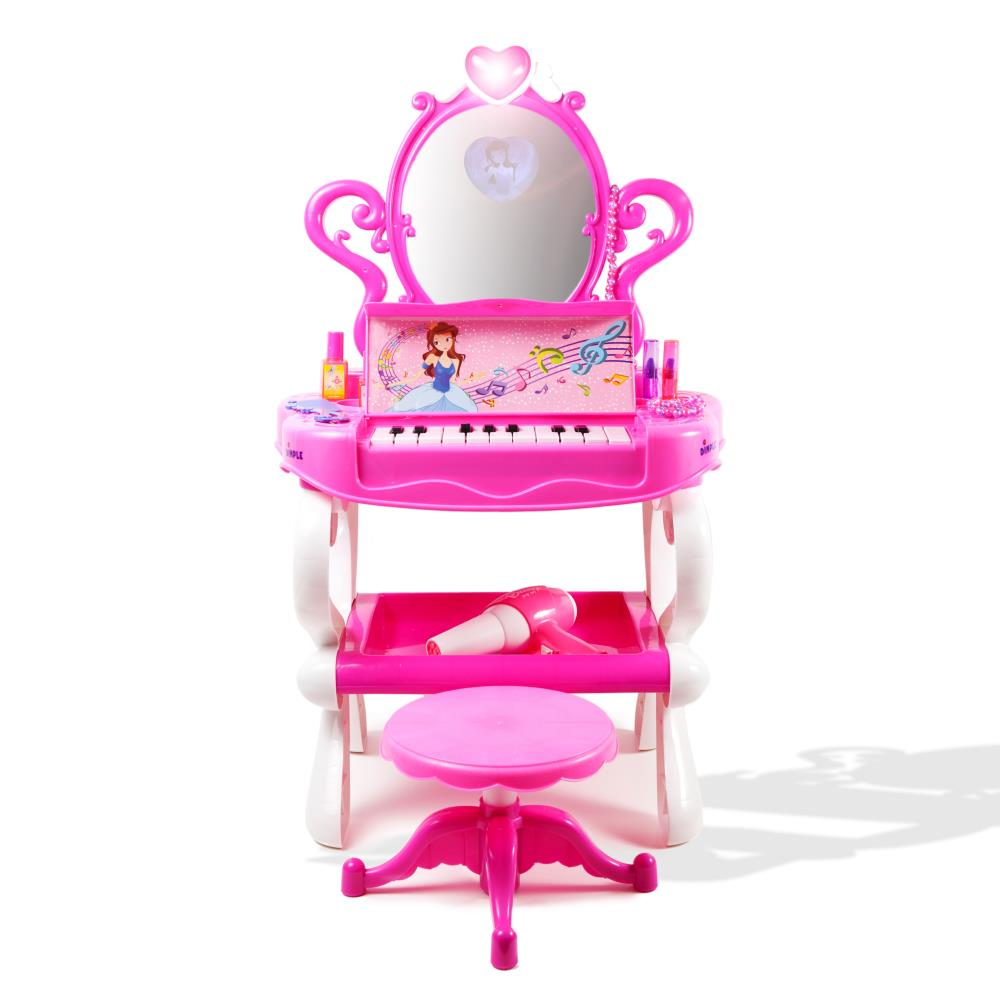 Dimple Dc11607 Princess Vanity With Piano Play Set For