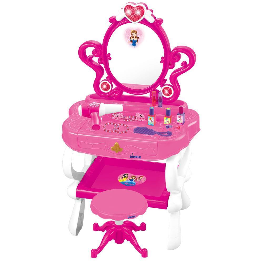 Dimple Dc11607 2 In 1 Princess Pretend Play Vanity Set