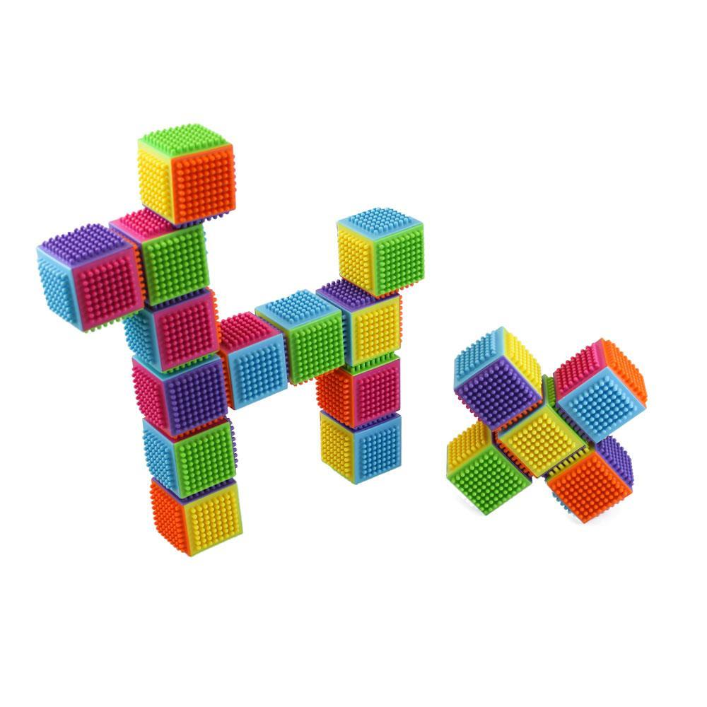 Dimple Dc5213 24 Piece Stacking Bristle Blocks And