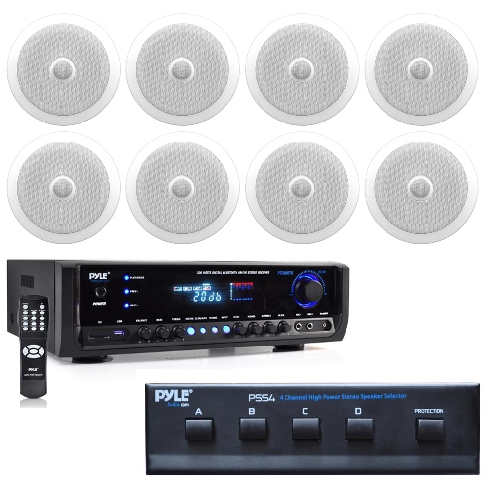Pyle Ktpdict2 In Wall In Ceiling Dual 8 Inch Speaker