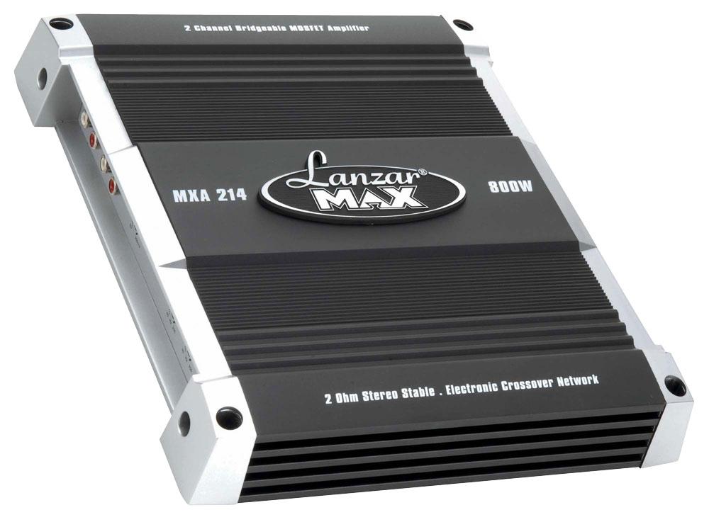 LOT OF 2 NEW Lanzar HTG237 1000 Watt 2 Channel Mosfet Car Amplifier