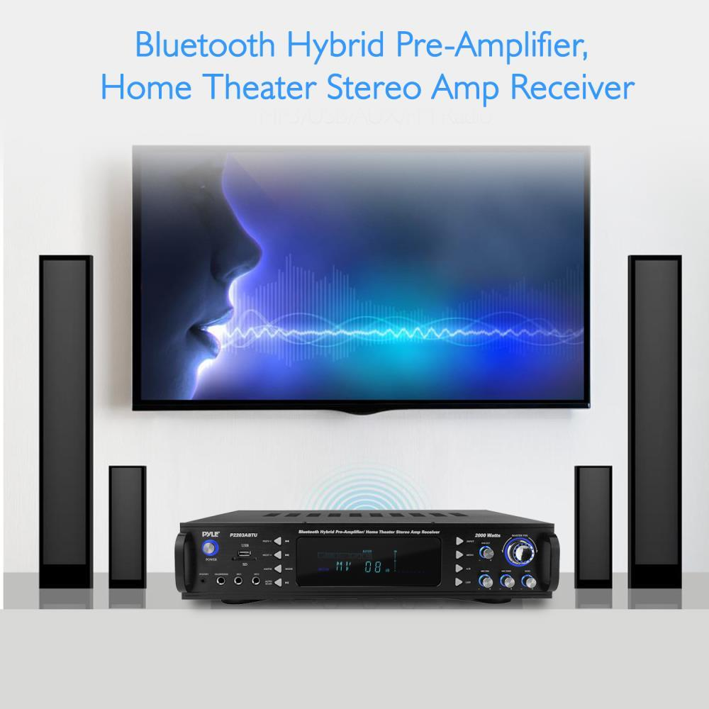 Pyle P2203abtu Bluetooth Hybrid Pre Amplifier Home
