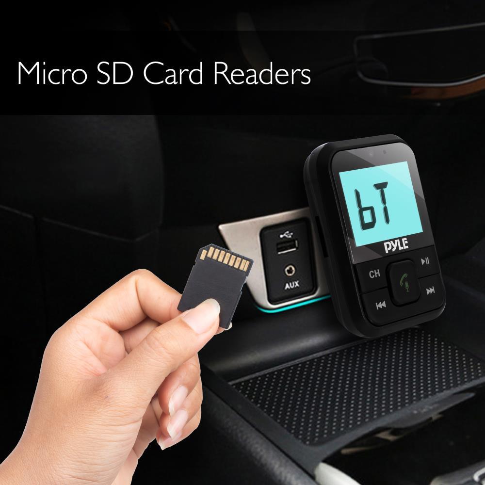 Pyle Pbt95 Bluetooth Radio Fm Transmitter Wireless Audio Streaming Device Charging Mp3