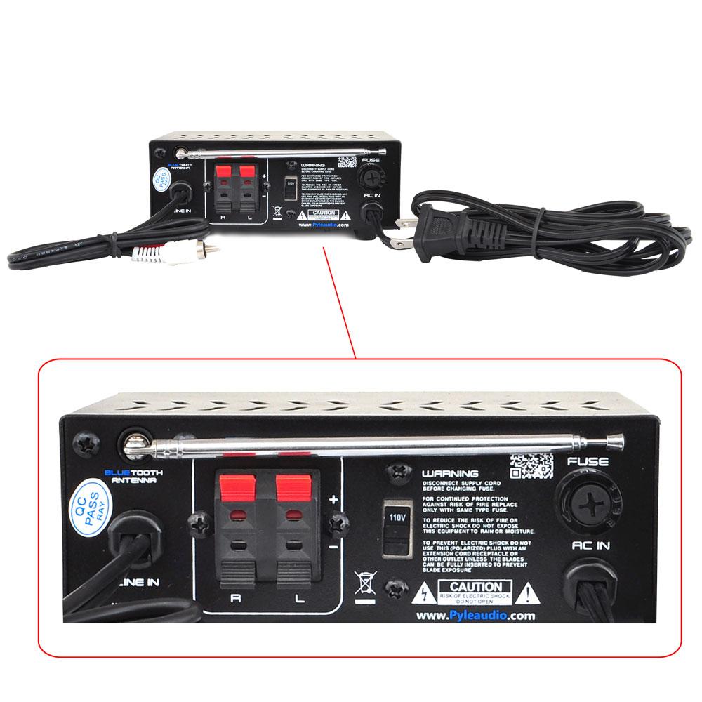 Pyle Pca12bt Bluetooth Stereo Power Amplifier Mini
