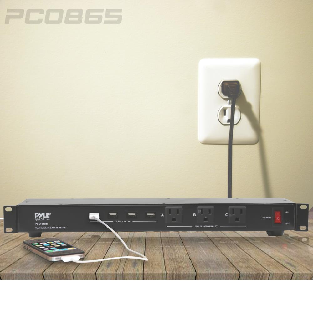Pyle Pco865 Power Supply Surge Protector Rack Mount