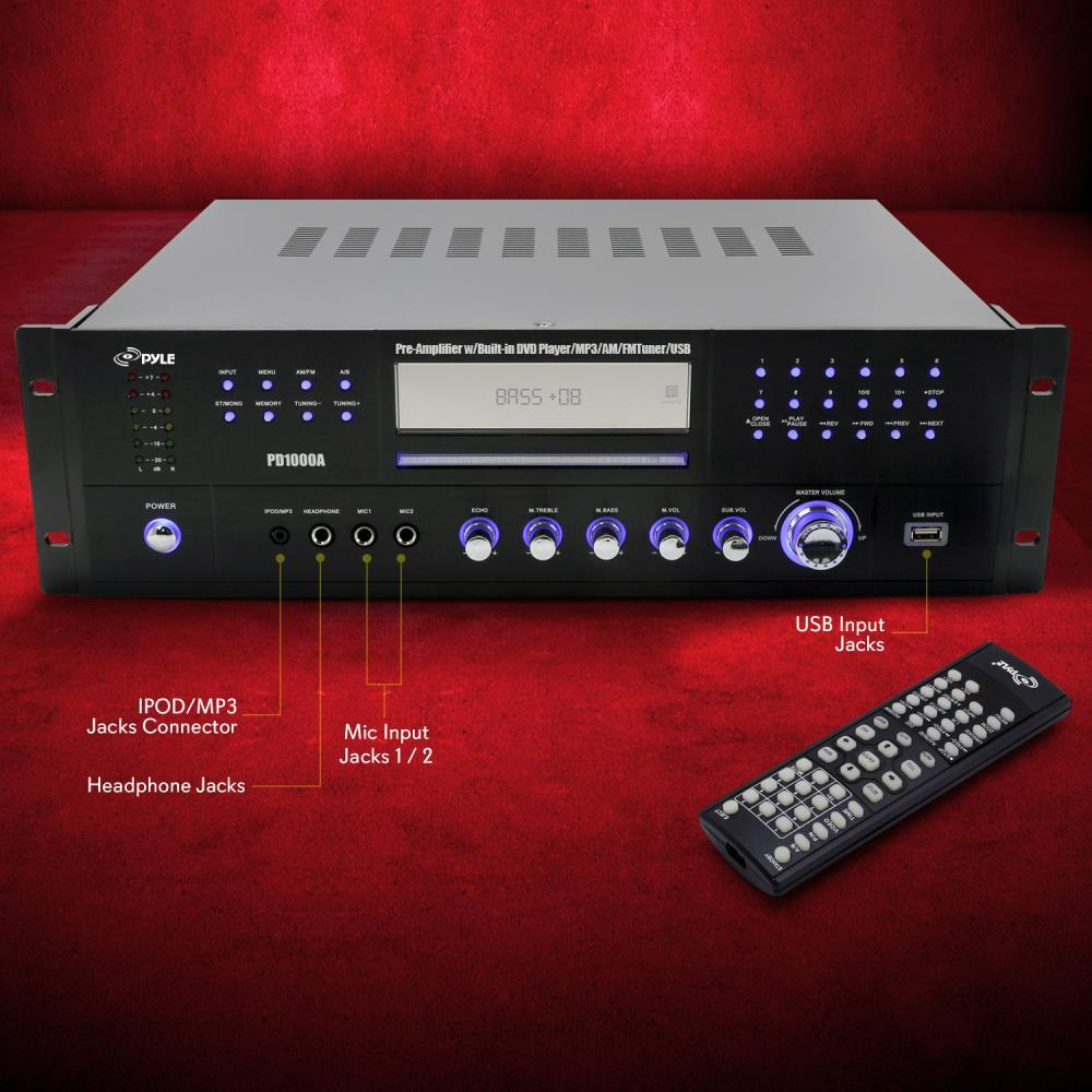 Pylehome Pd1000a Home Theater Preamplifier Receiver