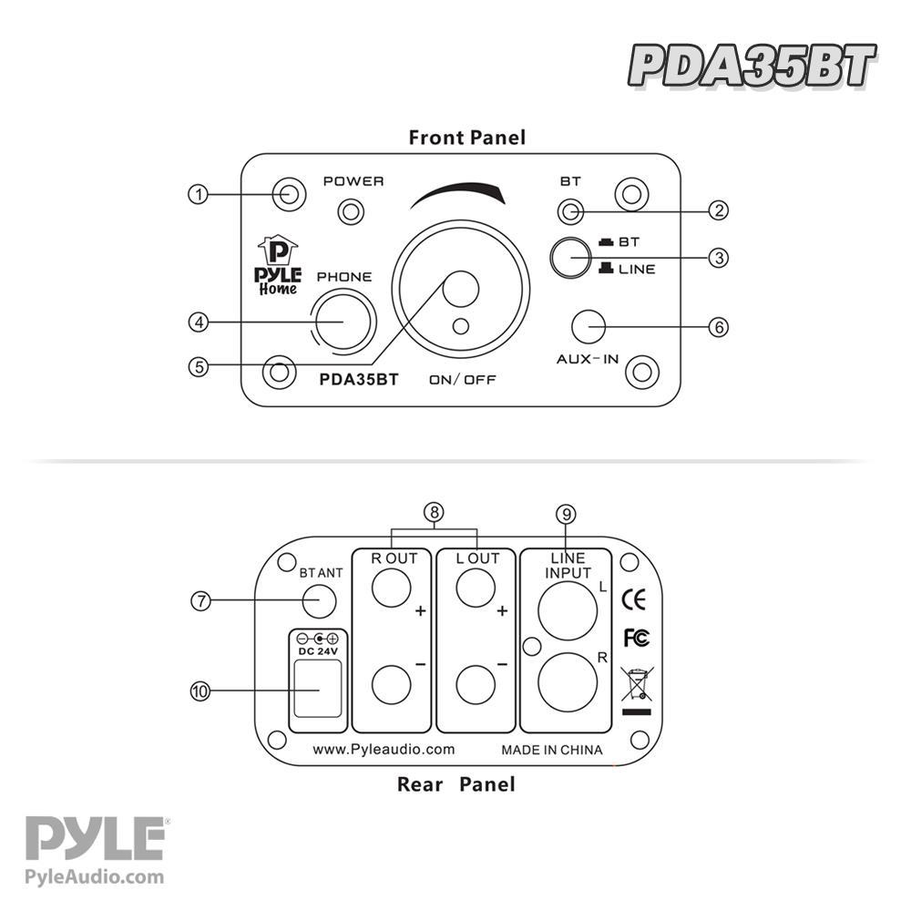 pyle - pda35bt   mini headphone amp  100 watt