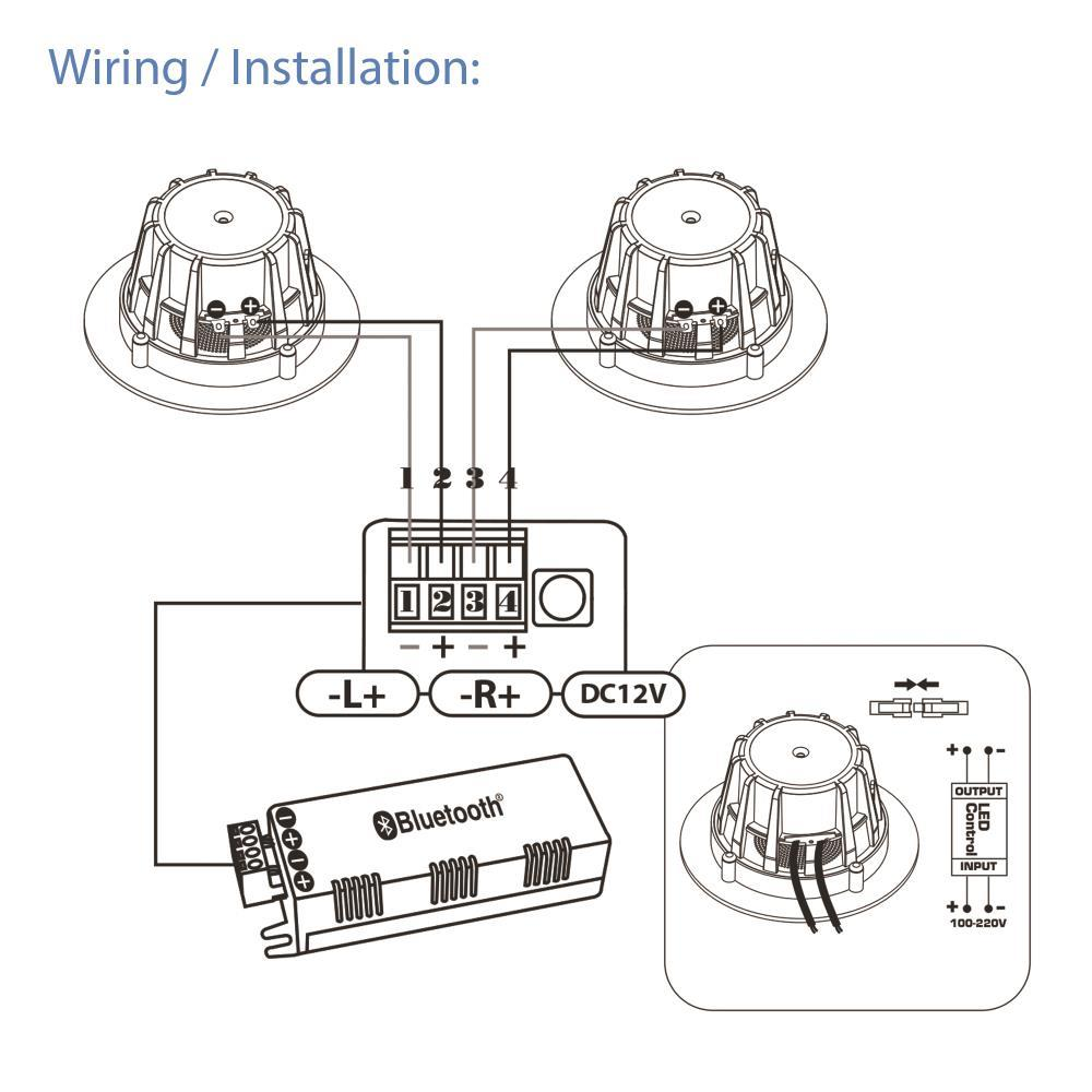 """Pyle PDICBTL4 In Wall//Ceiling 2 Way Pair 4/"""" Speakers System Flush Mount"""