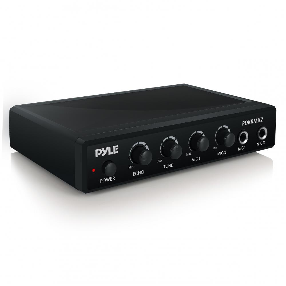 Pyle Pdkrmx2 Audio Control Mixer Karaoke Audio Sound