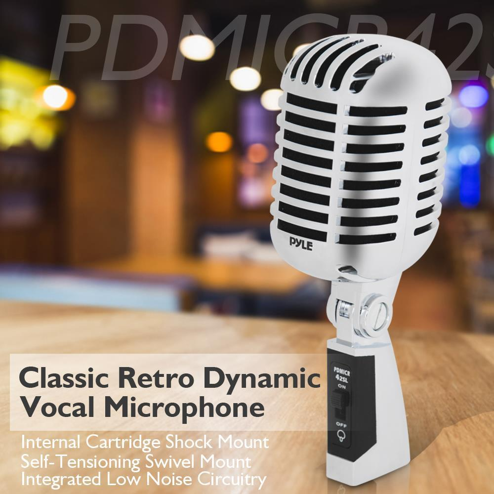 pylepro pdmicr42sl classic retro dynamic vocal