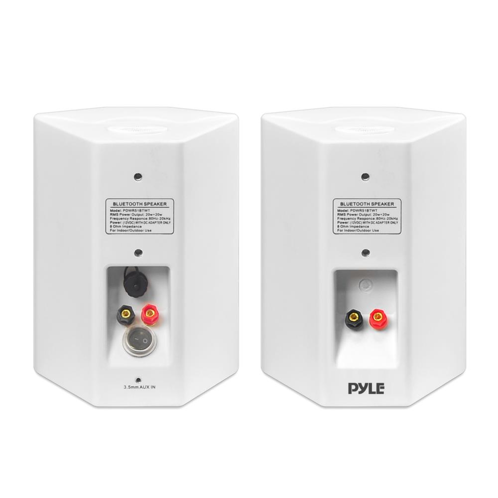Pyle Pdwr51btwt Wall Mount Waterproof Bluetooth