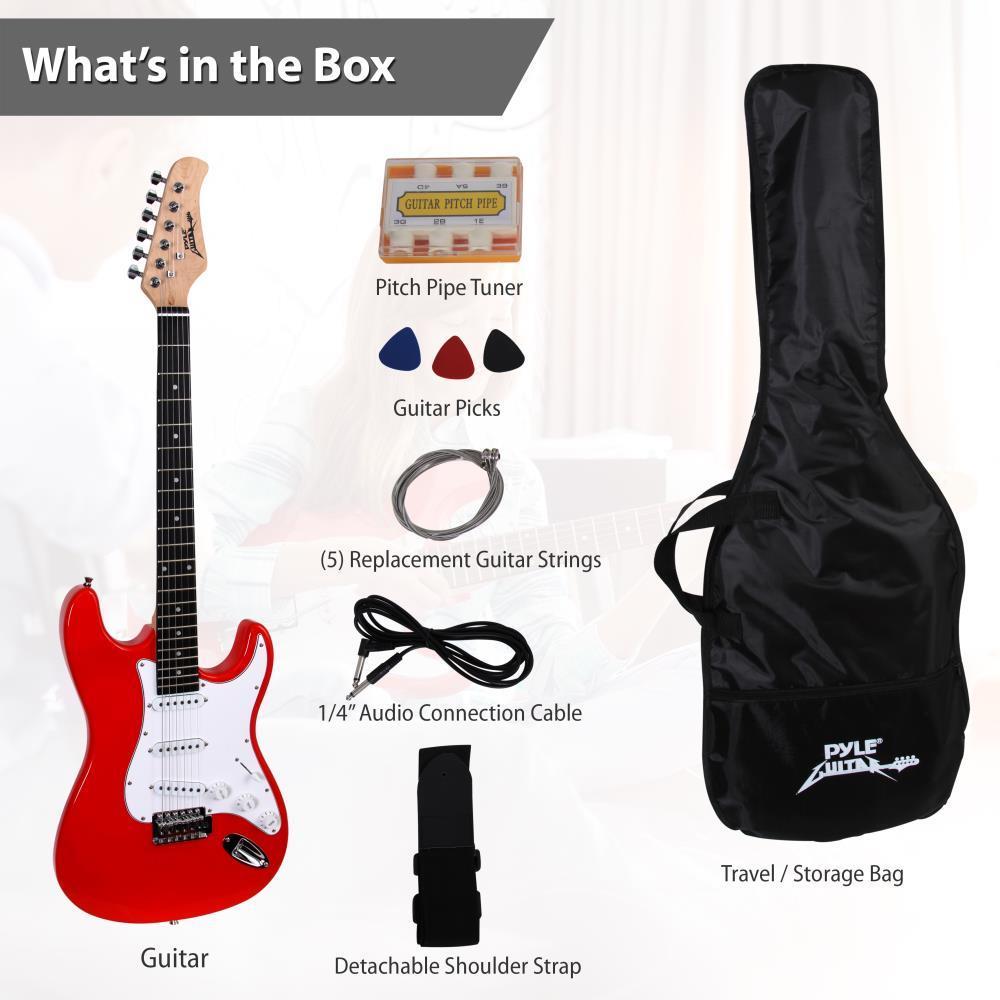 Pylepro Pegkt15r Beginners Electric Guitar Kit