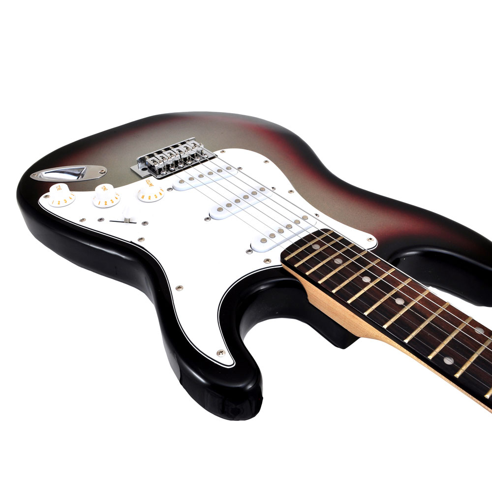 pylepro pegkt15sb beginners electric guitar kit includes amplifier accessories sunburst. Black Bedroom Furniture Sets. Home Design Ideas