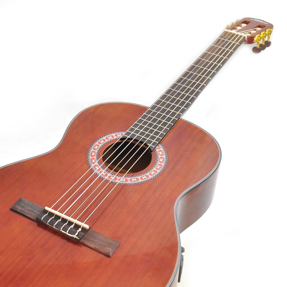 pyle pga33lbr left handed 6 string electric acoustic guitar full scale accessory kit included. Black Bedroom Furniture Sets. Home Design Ideas