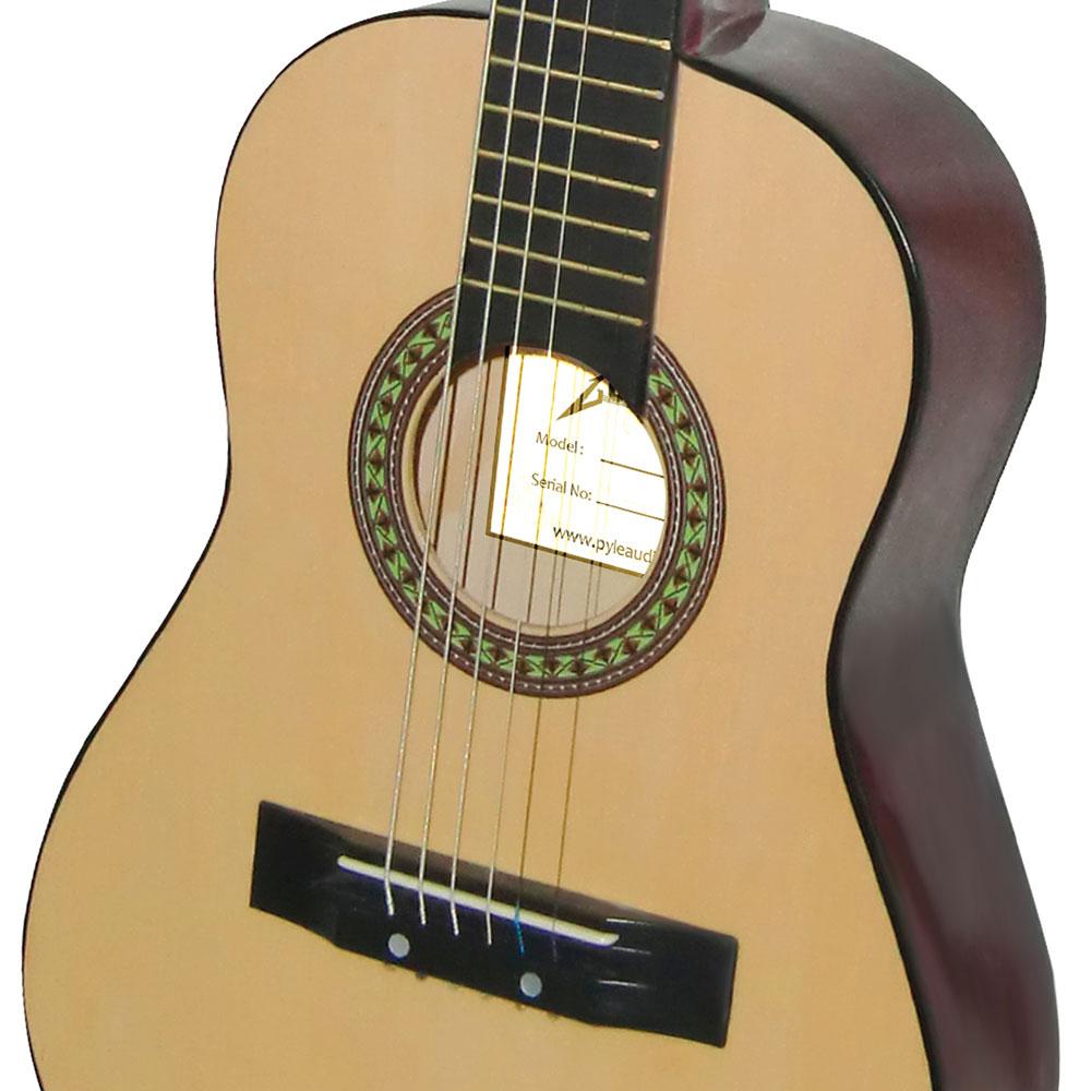 pylepro pgakt30 beginners 6 string acoustic guitar includes accessory kit. Black Bedroom Furniture Sets. Home Design Ideas