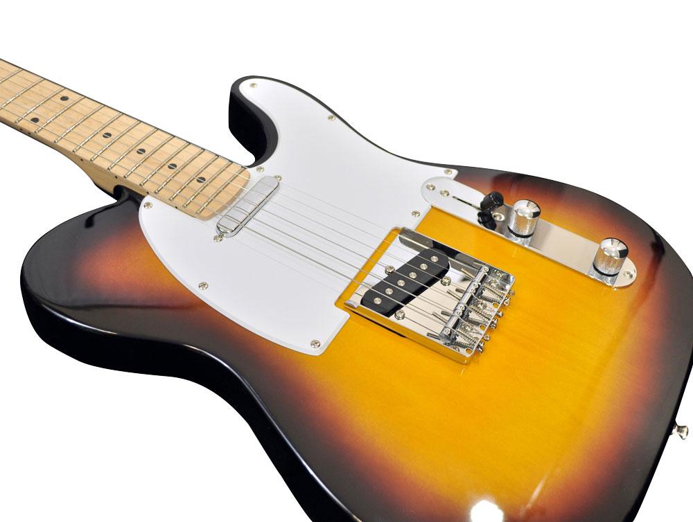 pylepro pgekt35 professional full size 6 string electric guitar w sunburst finish. Black Bedroom Furniture Sets. Home Design Ideas