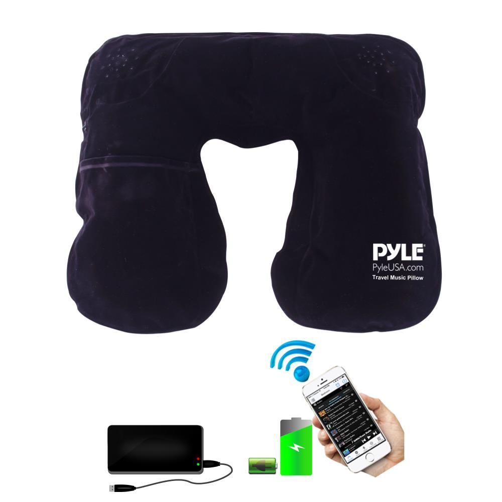 Bluetooth Travel Music Pillow With Built-in Speaker For Wireless Music Streaming