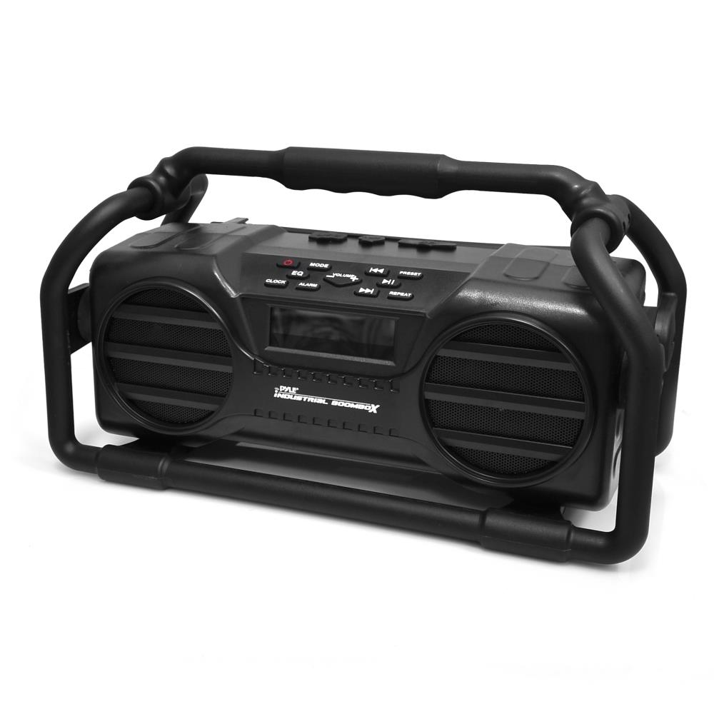 Pyle Pjsr350bk Industrial Boombox Rugged Bluetooth