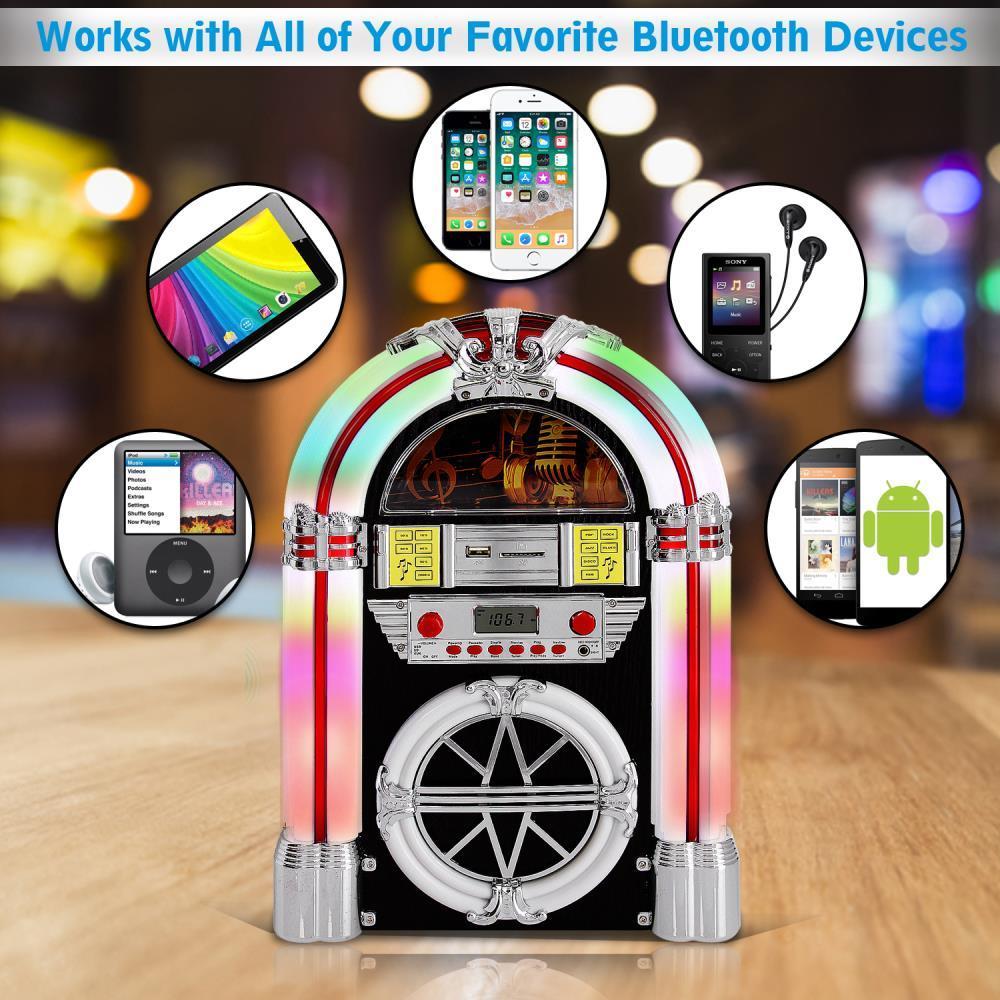 Pyle Pjub25bt Bluetooth Jukebox Mp3 Speaker System Am