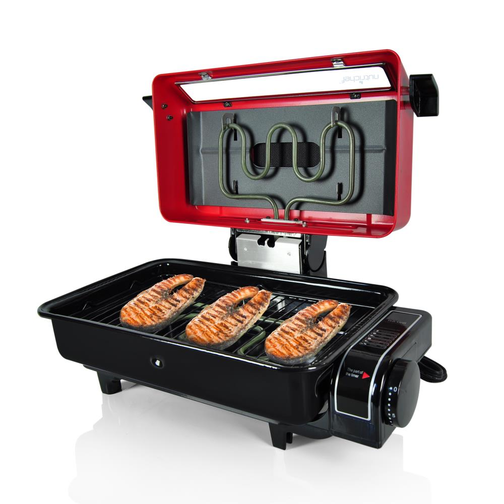 Nutrichef pkfg14 fish grill roasting oven cooker for How to grill fish in oven