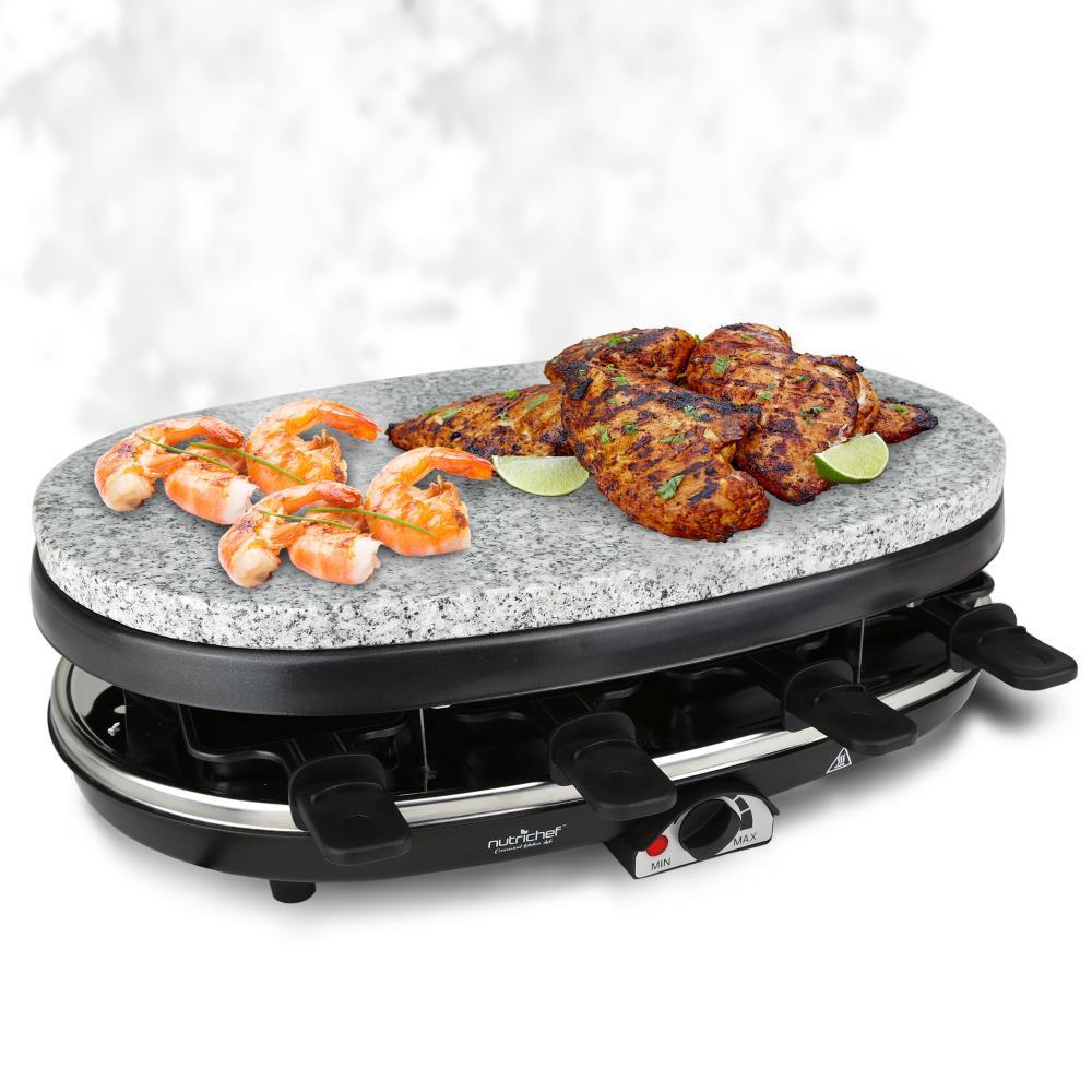 nutrichef pkgrst46 raclette grill party cooktop. Black Bedroom Furniture Sets. Home Design Ideas