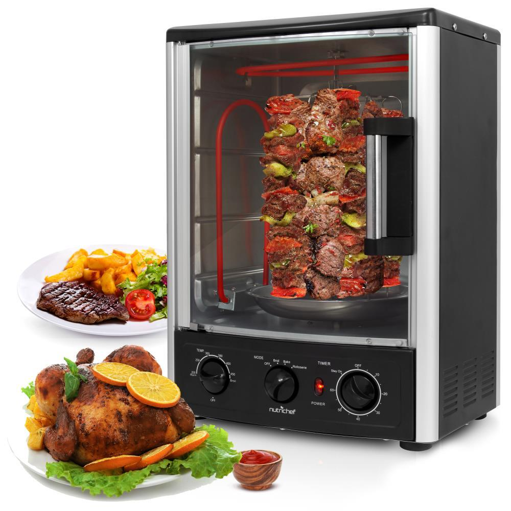 nutrichef pkrt97 multi function vertical oven with bake rotisserie roast cooking. Black Bedroom Furniture Sets. Home Design Ideas