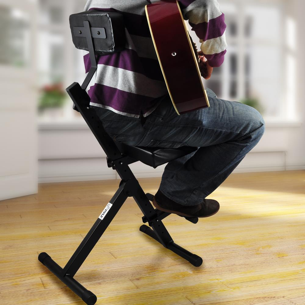 Pyle Pkst70 Musician Amp Performer Chair Seat Stool