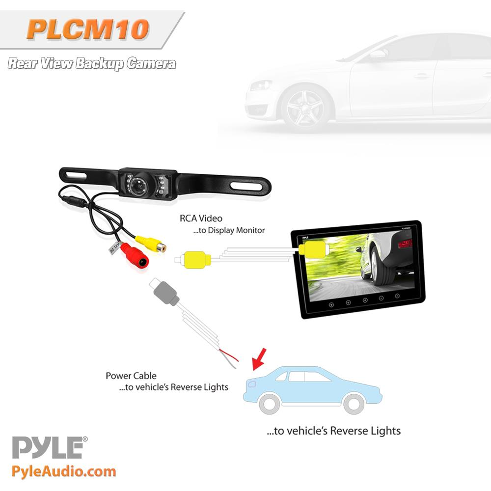 pyle plcm10 rear view backup parking reverse camera. Black Bedroom Furniture Sets. Home Design Ideas