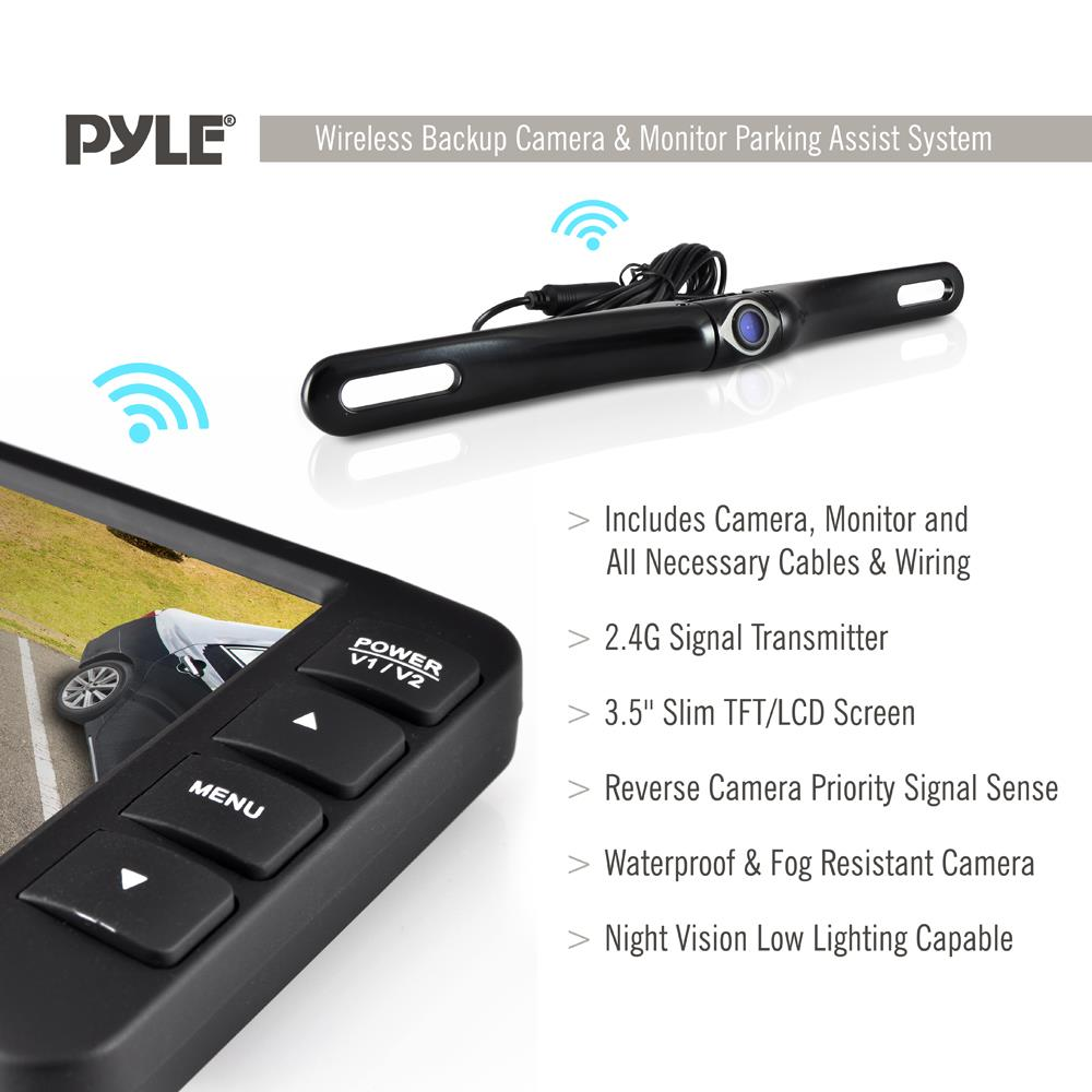Pyle Plcm3550wir Wireless Rear View Back Up Camera