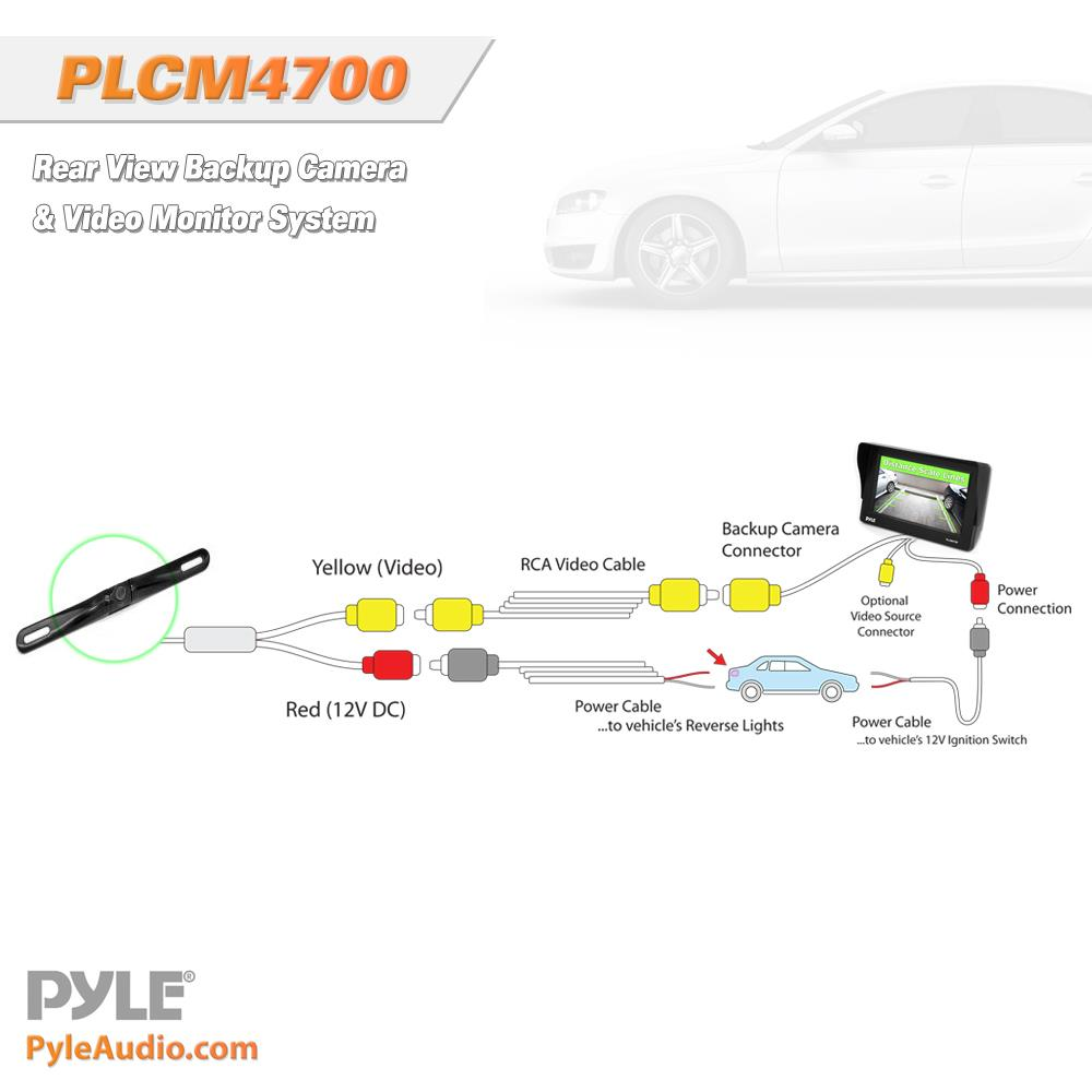 pyle - plcm4700   reverse assist system  includes