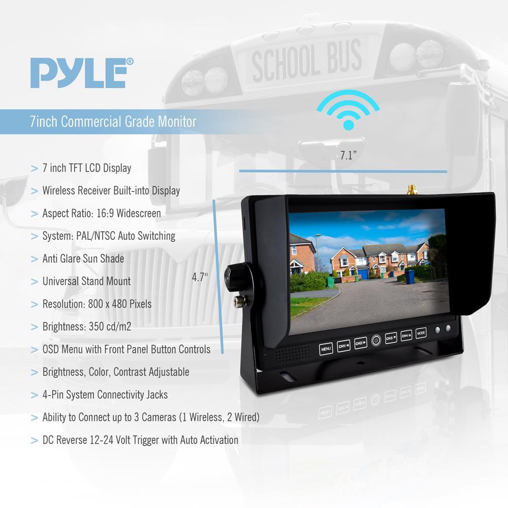 Plcmtrdvr additionally Peak Inch Wireless Backup Camera System Pkc Rb besides Plcm Wir Ad in addition D D E F Df B Fa E E Ba E Baed F Af A D F C besides Pl Andin. on pyle wireless backup camera system