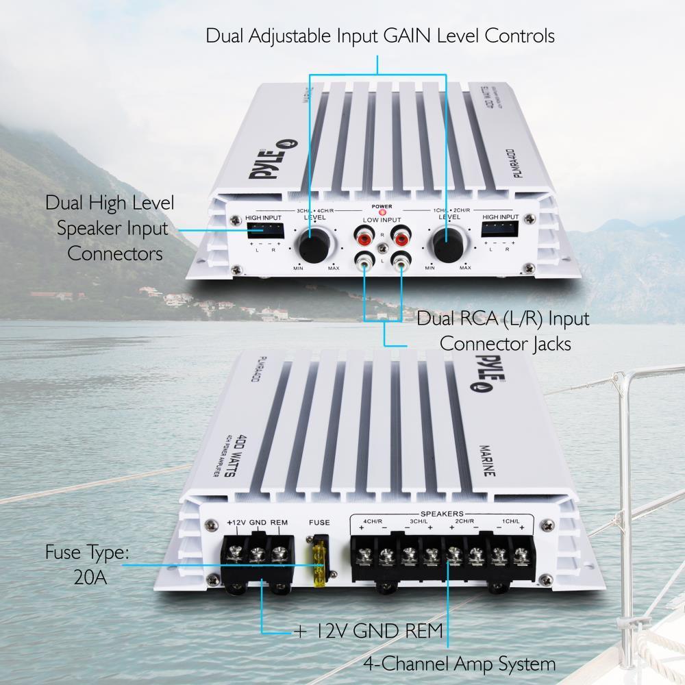 pyle plmra400 elite series waterproof amplifier  400