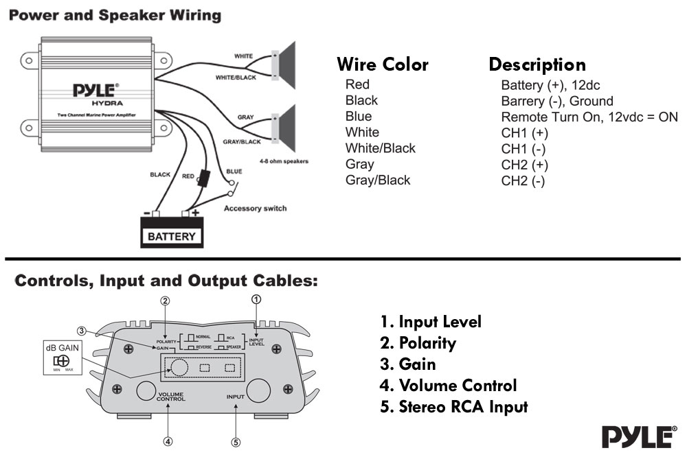 dj amplifier wiring diagram dj 1000 wiring diagram pyle - plmrmp1a - 2 channel waterproof ipod/mp3 marine ...