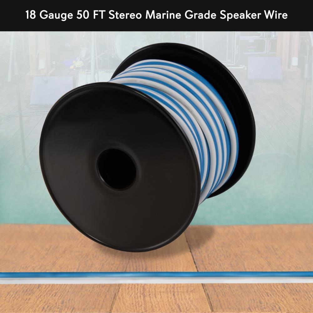 Pyle Plmrsw50 18 Gauge 50 Ft Stereo Marine Grade