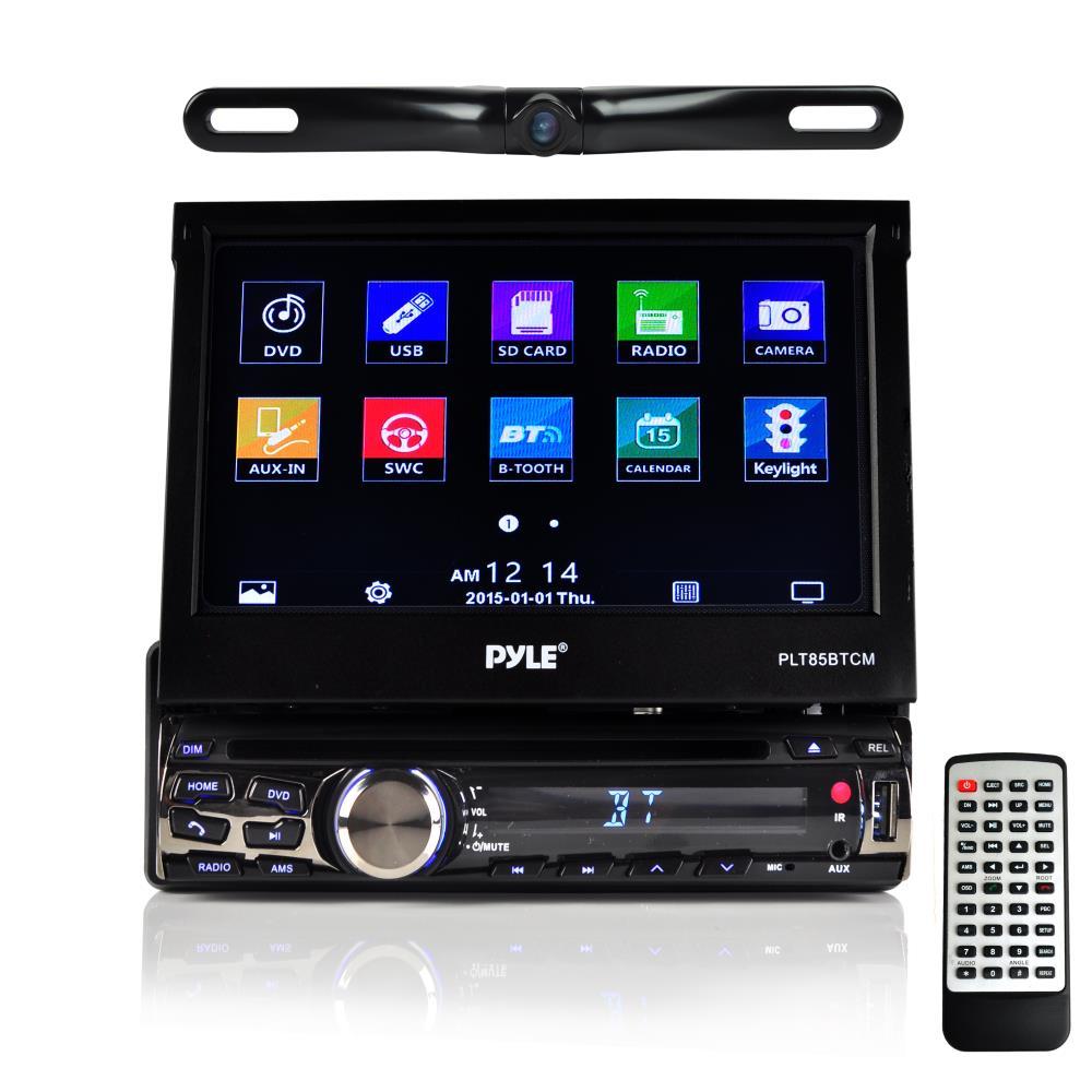 pyle plt85btcm 7 inch bluetooth headunit receiver backup camera kit built in mic for. Black Bedroom Furniture Sets. Home Design Ideas