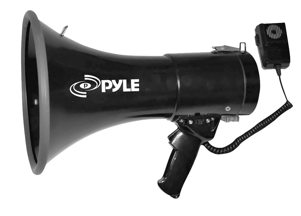 Pylepro Pmp53in Megaphone Pa Bullhorn With Siren