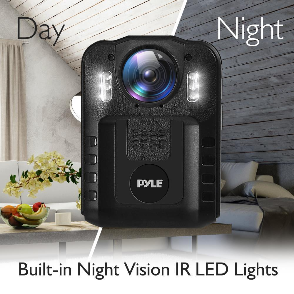 Pyle Ppbcm9 Compact Amp Portable Hd Body Camera