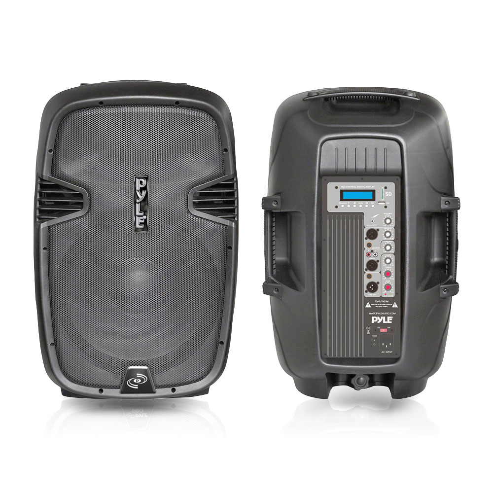 Car Audio System Packages >> PylePro - PPHP123MU - Loudspeaker PA Cabinet Speaker System, Powered 2-Way Full Range Sound ...