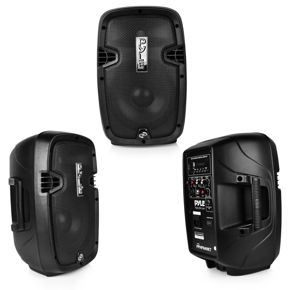 pyle pphp849kt active passive pa speaker system kit. Black Bedroom Furniture Sets. Home Design Ideas
