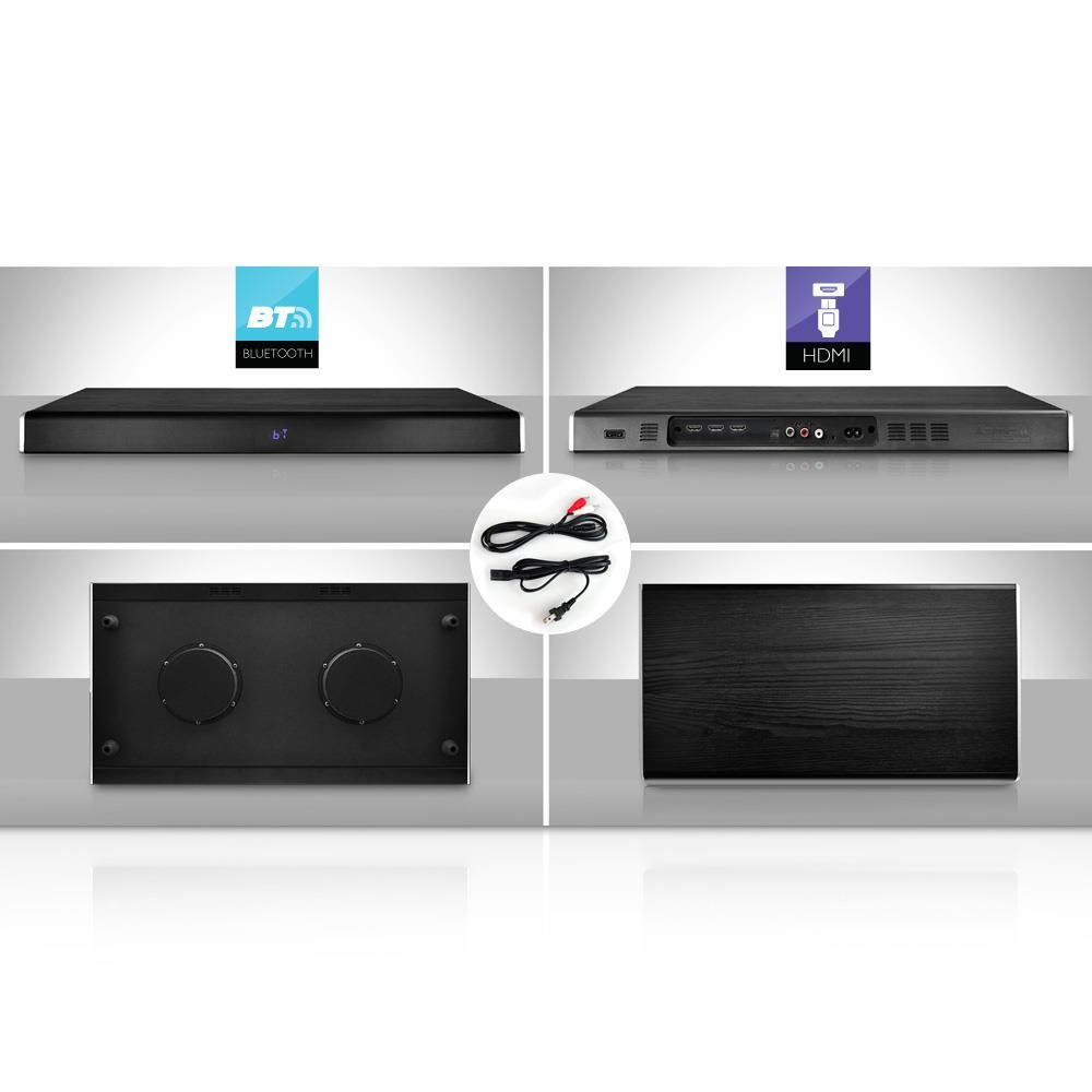 pyle psbv630hdbt bluetooth hd tabletop tv sound base soundbar digital speaker system with. Black Bedroom Furniture Sets. Home Design Ideas