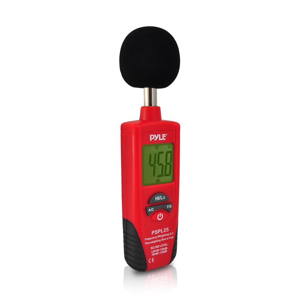 Sound Frequency Counter Handheld : Pyle pspl sound level meter with a and c frequency