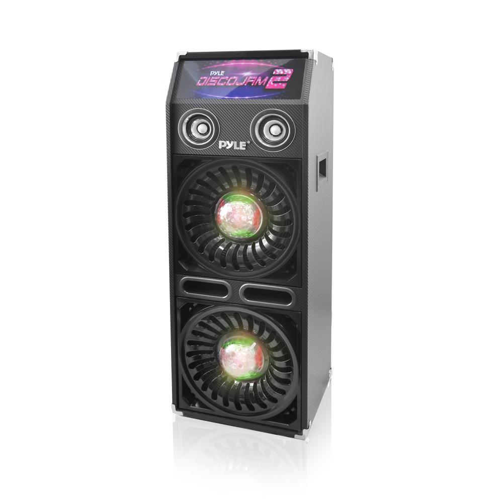 pyle psufm1065p disco jam 2 passive pa speaker system flashing dj lights dual 10 inch. Black Bedroom Furniture Sets. Home Design Ideas