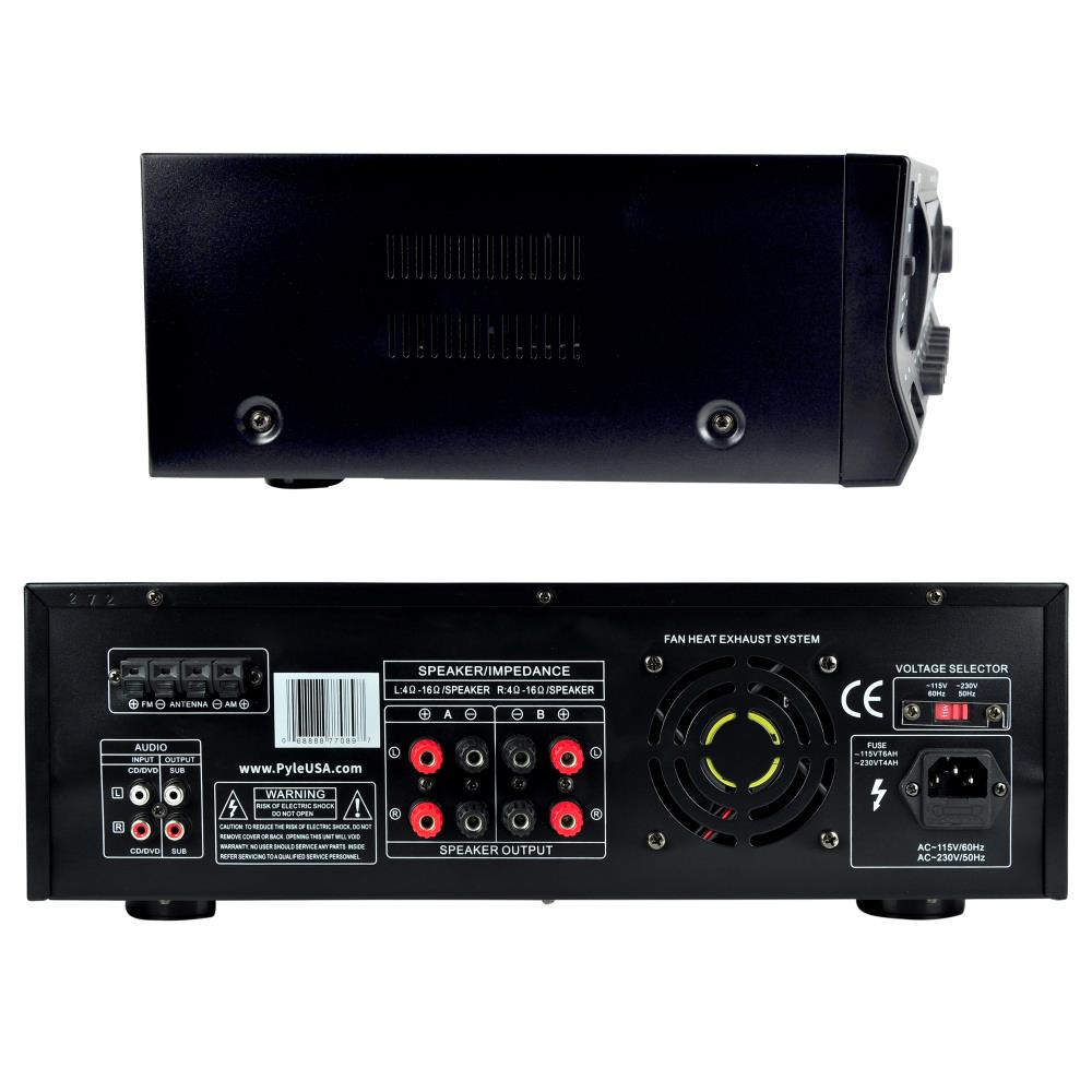 Pyle PT272AUBT Hybrid Amplifier Receiver Home Theater Stereo System Bl