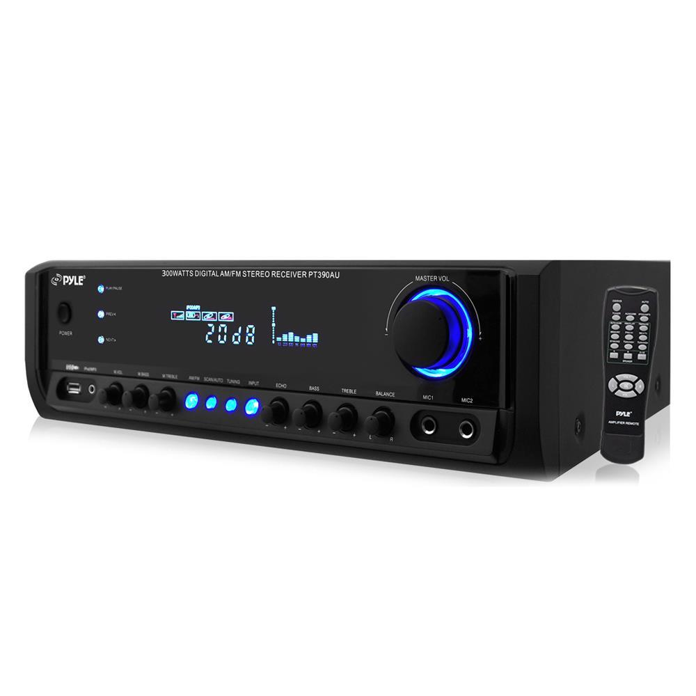 pylehome pt390au 300 watt digital home theater stereo. Black Bedroom Furniture Sets. Home Design Ideas