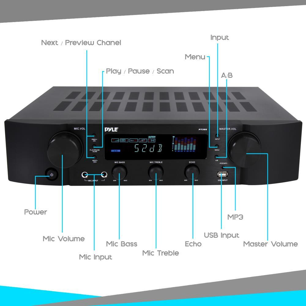 Pyle Pt395 Bluetooth Hybrid Pre Amplifier Home