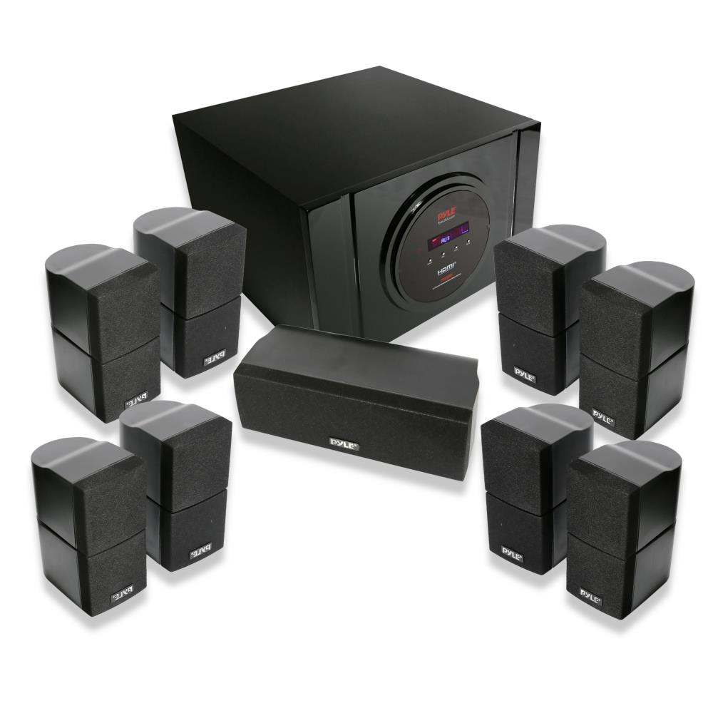 pyle pt589bt bluetooth 5 1 channel home theater system. Black Bedroom Furniture Sets. Home Design Ideas