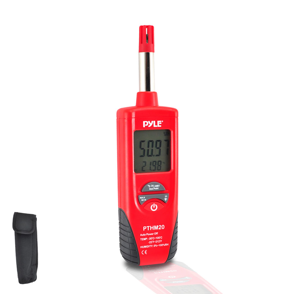 Temperature Humidity Meter : Pyle pthm temperature and humidity meter with dew