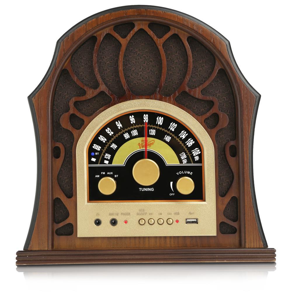 Pyle Punp37bt Vintage Style Bluetooth Radio Classic