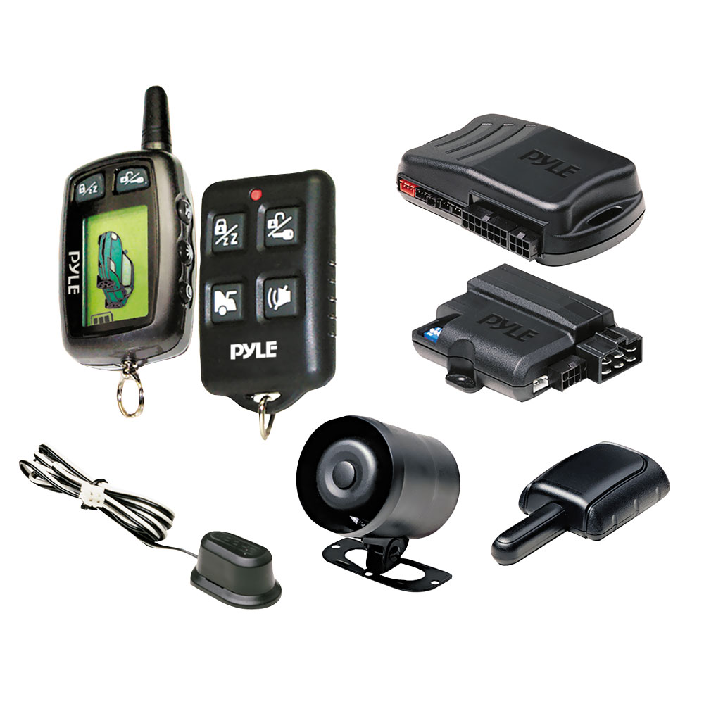 pyle pwd901 lcd 2 way remote start security system w. Black Bedroom Furniture Sets. Home Design Ideas